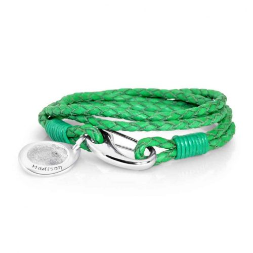 emeralad-green-leather-bracelet-and-charm