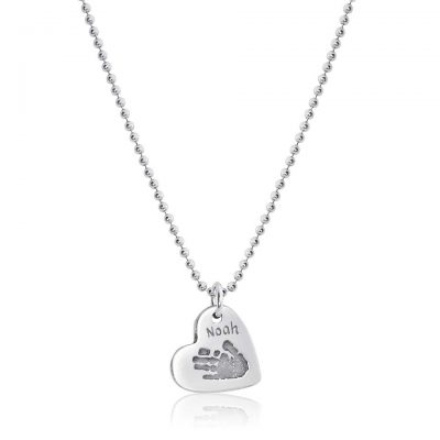 Hand & Feet Charm on Ball Necklace