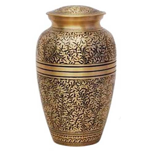 Floral Gold Adult Urn
