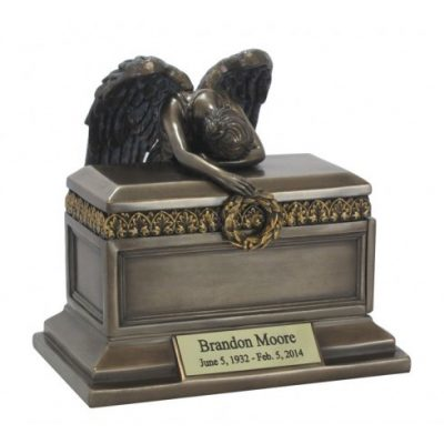 angel of grief bronze keepsake urn