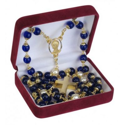 Blue Rosary Beads Urn