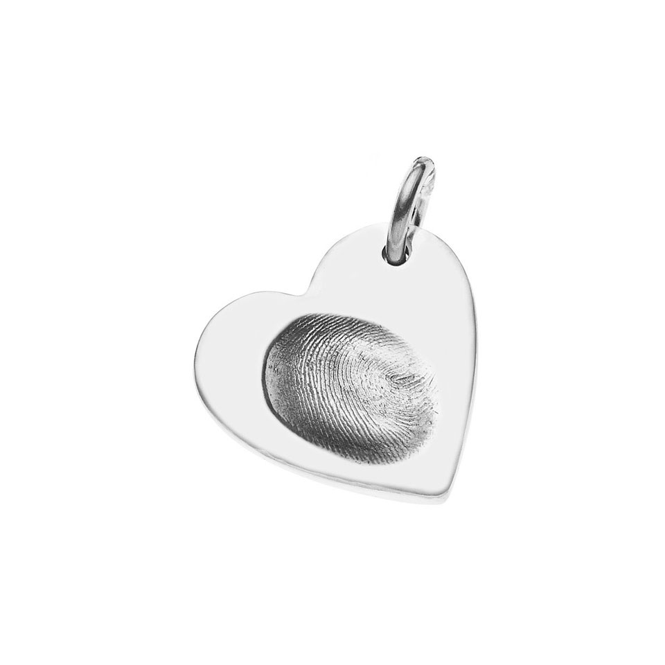 Fingerprint charm on necklace fingerprint charms by the for Fingerprint jewelry by first impressions