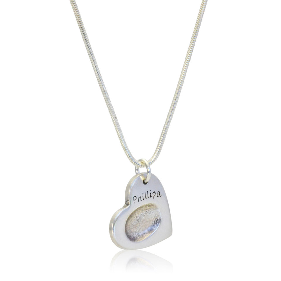 Fingerprint pendant on necklace fingerprint jewellery the for Fingerprint jewelry by first impressions