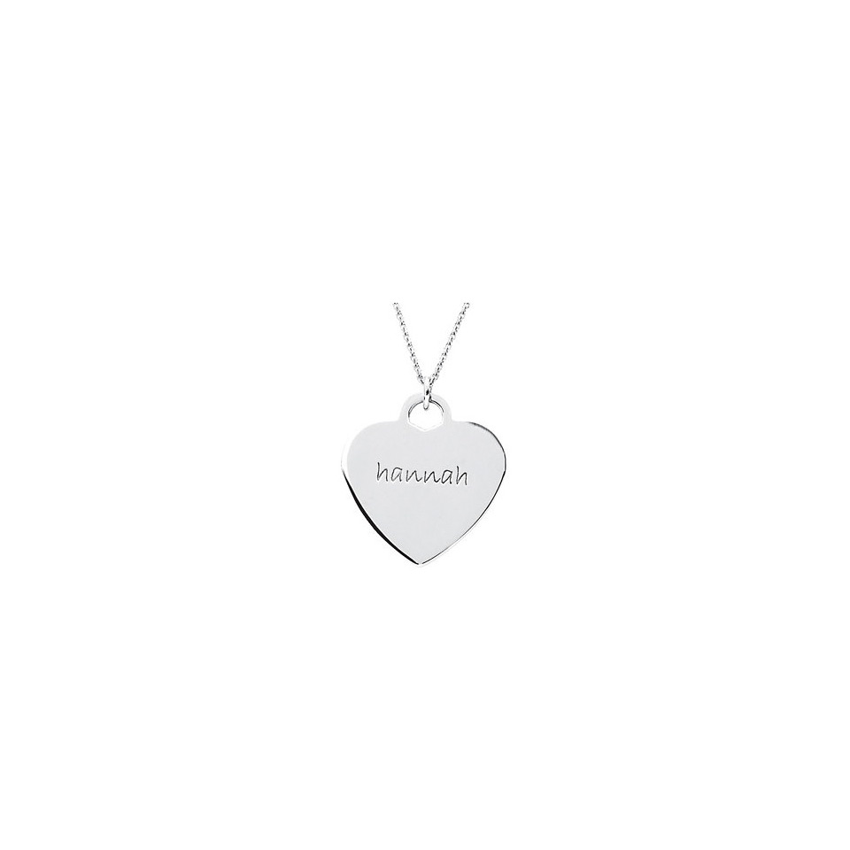 Posh mommy engravable 14k white gold heart pendant posh mommy small engravable heart shaped pendant white mozeypictures