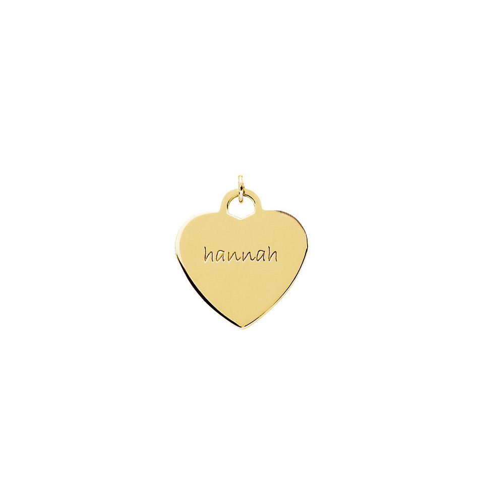 Posh mommy engravable 14k yellow gold heart pendant posh mommy small engravable heart shaped pendant yellow aloadofball Gallery